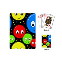 Smiley Faces Pattern Playing Cards (mini)  by Valentinaart