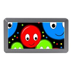 Smiley Faces Pattern Memory Card Reader (mini) by Valentinaart