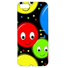 Smiley Faces Pattern Apple Iphone 5 Hardshell Case With Stand by Valentinaart