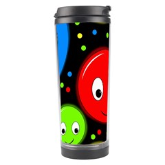 Smiley Faces Pattern Travel Tumbler