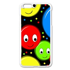 Smiley Faces Pattern Apple Iphone 6 Plus/6s Plus Enamel White Case