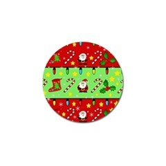 Christmas Pattern   Green And Red Golf Ball Marker by Valentinaart