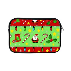Christmas Pattern   Green And Red Apple Ipad Mini Zipper Cases by Valentinaart
