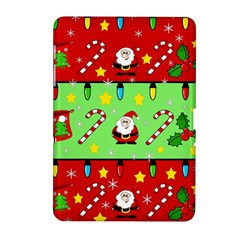 Christmas Pattern   Green And Red Samsung Galaxy Tab 2 (10 1 ) P5100 Hardshell Case  by Valentinaart