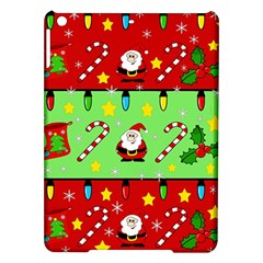 Christmas Pattern   Green And Red Ipad Air Hardshell Cases by Valentinaart