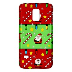 Christmas Pattern   Green And Red Galaxy S5 Mini by Valentinaart