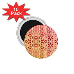 Orange Ombre Mosaic Pattern 1 75  Magnets (10 Pack)