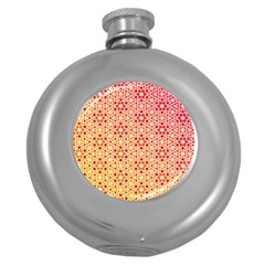 Orange Ombre Mosaic Pattern Round Hip Flask (5 Oz) by TanyaDraws