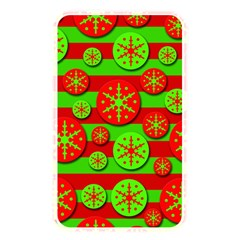 Snowflake Red And Green Pattern Memory Card Reader by Valentinaart