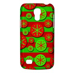 Snowflake Red And Green Pattern Galaxy S4 Mini by Valentinaart