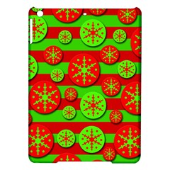 Snowflake Red And Green Pattern Ipad Air Hardshell Cases