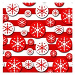 Snowflake red and white pattern Small Memo Pads 3.75 x3.75  Memopad
