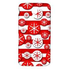 Snowflake Red And White Pattern Samsung Galaxy S5 Back Case (white) by Valentinaart