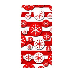 Snowflake Red And White Pattern Samsung Galaxy Alpha Hardshell Back Case