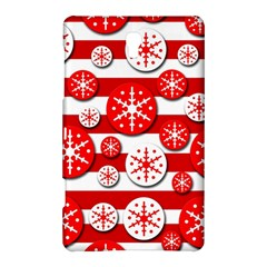 Snowflake Red And White Pattern Samsung Galaxy Tab S (8 4 ) Hardshell Case  by Valentinaart