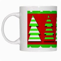 Christmas Trees Pattern White Mugs by Valentinaart