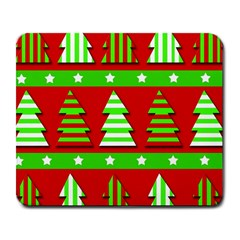 Christmas Trees Pattern Large Mousepads by Valentinaart