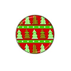 Christmas Trees Pattern Hat Clip Ball Marker (10 Pack) by Valentinaart