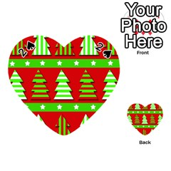 Christmas Trees Pattern Playing Cards 54 (heart)