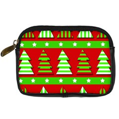 Christmas Trees Pattern Digital Camera Cases by Valentinaart