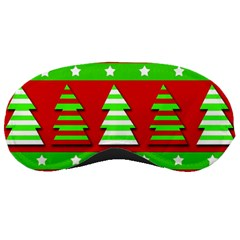 Christmas Trees Pattern Sleeping Masks by Valentinaart