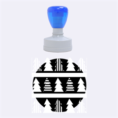 Christmas Trees Pattern Rubber Round Stamps (medium) by Valentinaart