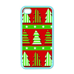 Christmas Trees Pattern Apple Iphone 4 Case (color) by Valentinaart