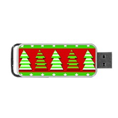 Christmas Trees Pattern Portable Usb Flash (one Side) by Valentinaart