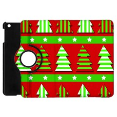 Christmas Trees Pattern Apple Ipad Mini Flip 360 Case by Valentinaart