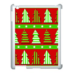 Christmas Trees Pattern Apple Ipad 3/4 Case (white) by Valentinaart
