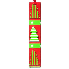 Christmas Trees Pattern Large Book Marks by Valentinaart
