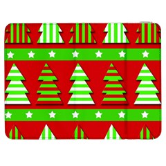 Christmas Trees Pattern Samsung Galaxy Tab 7  P1000 Flip Case by Valentinaart