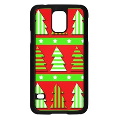Christmas Trees Pattern Samsung Galaxy S5 Case (black) by Valentinaart
