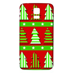 Christmas Trees Pattern Samsung Galaxy S5 Back Case (white) by Valentinaart