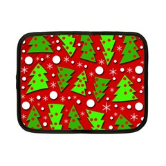 Twisted Christmas Trees Netbook Case (small)  by Valentinaart