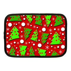 Twisted Christmas Trees Netbook Case (medium)  by Valentinaart
