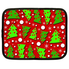 Twisted Christmas Trees Netbook Case (large) by Valentinaart