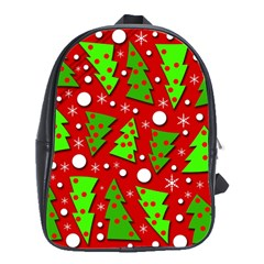 Twisted Christmas Trees School Bags(large)  by Valentinaart