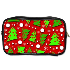 Twisted Christmas Trees Toiletries Bags 2 Side by Valentinaart