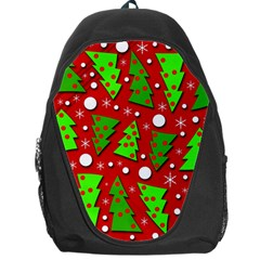 Twisted Christmas Trees Backpack Bag by Valentinaart