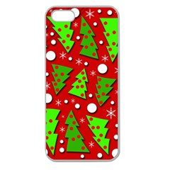 Twisted Christmas Trees Apple Seamless Iphone 5 Case (clear) by Valentinaart