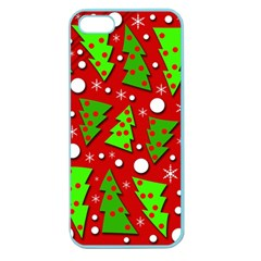 Twisted Christmas Trees Apple Seamless Iphone 5 Case (color) by Valentinaart