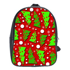 Twisted Christmas Trees School Bags (xl)  by Valentinaart