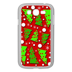 Twisted Christmas Trees Samsung Galaxy Grand Duos I9082 Case (white) by Valentinaart
