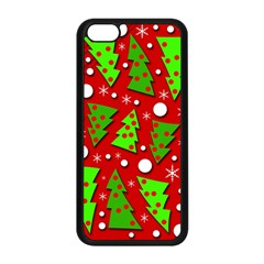 Twisted Christmas Trees Apple Iphone 5c Seamless Case (black) by Valentinaart