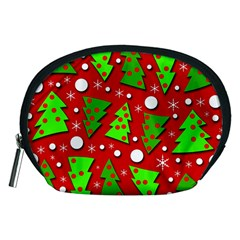 Twisted Christmas Trees Accessory Pouches (medium)  by Valentinaart
