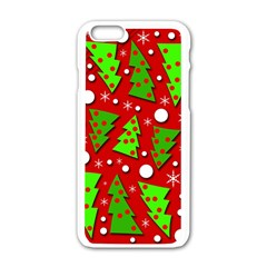 Twisted Christmas Trees Apple Iphone 6/6s White Enamel Case