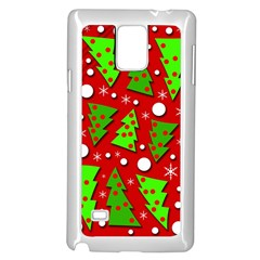 Twisted Christmas Trees Samsung Galaxy Note 4 Case (white) by Valentinaart