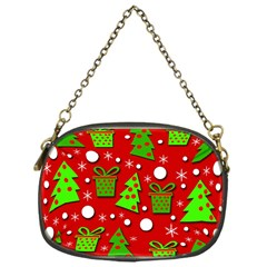 Christmas Trees And Gifts Pattern Chain Purses (one Side)  by Valentinaart