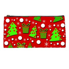 Christmas Trees And Gifts Pattern Pencil Cases by Valentinaart